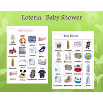 Loteria Baby Shower 80 Cartas Y 1 Baraja