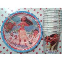 Princesa Moana & Maui Platos O Vasos 10 Pzas Disney