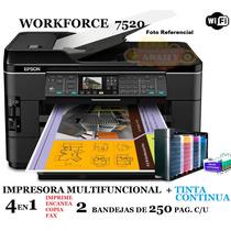 Impresora Multifuncional Epson Tabloide A3/duplex+tinta Cont