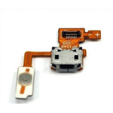 Conector Flex Usb Carga E Botao Power Lg P970 Optimus Black