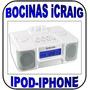 Bocinas Icraig Para Ipod Y Iphone Con Radio Y Despertador