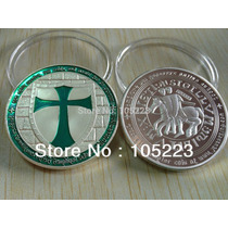 Caballeros Templarios Cruz Verde Mason 1 Onza