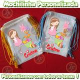 Kit 10 Mochilinhas Páscoa Eco Bag Sacola Festinhas Tecido