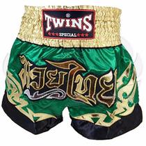 Shorts Twins Special Muay Thai Mma Boxeo Verde Disponible