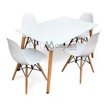 Mesa Con Sillas Eames Comedor Moderno Minimalista Vintage