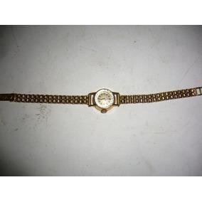 Reloj De Dama Omega Con Malla Todo Oro 18k
