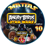 Kit Imprimible Starwars Angry Birds Cumpleaños Único!