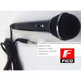 Microfono Dinamico Con Cable 3 Mts Ideal Karaoke