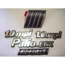 Kit Emblemas Palio Edx + 2x 1.0mpi + Capo + Mala 96 97 98 99