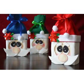 Dulceros Navideños Santa Claus Muñeco De Nieve
