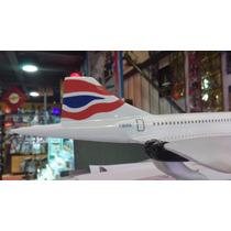Maquete Avião Concorde Resina - Grande 41cm