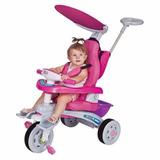 Triciclo Infantil Fit Trike Super Estofado Rosa Magic Toys