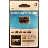 Cartão De Memória Sony Pro Duo 4gb Camera Digital Dsc-s730