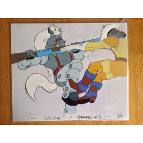 2 Celdas Con Arte Original Bravestarr Animación 80