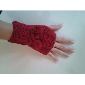 Mitones Guantes Sin Dedos Tejidos A Crochet
