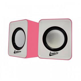 Caixa De Som Cool Mini Rosa Usb 4908 Leadership