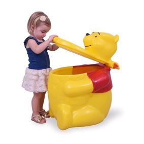 Baú Ursinho Pooh Polietileno Guarda Brinquedos Xalingo