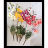 Hermosa Vara De Orquídea Phalenopsis 40cm 1pza $40 Sintética