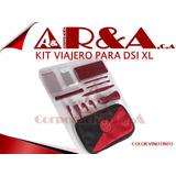 Kit Nintendo Dsi Xl 3d Cargador Audifono Estuche Lapiz