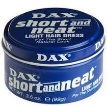 Dax Short Azul Cera Pomada Fixaçao Brilho P/ Cabelo Curto
