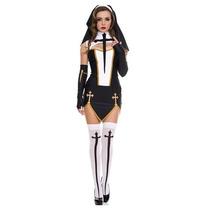Disfraz Mujer Monja Sexy Mala Halloween Adulto Monja Malvada