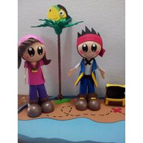 Fofuchos Jake Y Los Piratas , Para Centro De Mesa