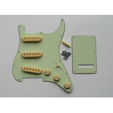 Pickguard Stratocaster Sss 11 Pernos Mint Green + Accesorios