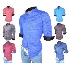 Envio Gratis!!! Camisas Entalladas M/l - Lisas Y Estampadas
