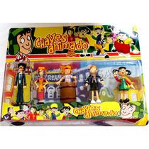 Coleção Mini Bonecos 05 Personagem Turma Do Chaves Animados.