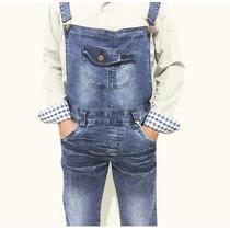 Macacão Jardineira Masculina Calça Jeans Com Supensório