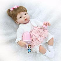 Boneca Bebê Reborn Luana Silicone Pronta Entrega