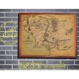 El Señor De Los Anillos Mapa Tierra Media Enmarcado