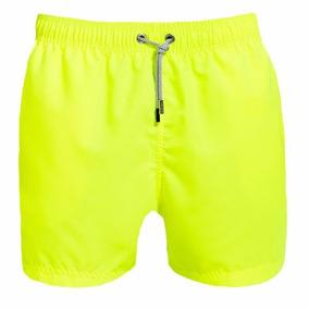 Traje De Baño Para Caballero Azul Siete Yellow Neon