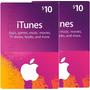 Dos Itunes Gift Card 10 Total $20 Usa Para Iphone Ipod Ipad