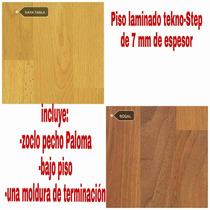 Piso Laminado Tekno Steep7mm, Incluye Instalación Y Zoclo.