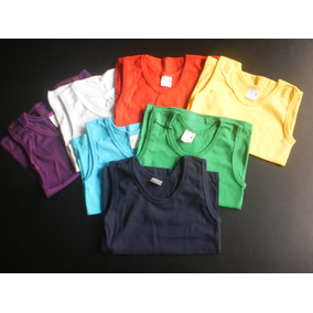 Franelillas Camisetas Unicolores Para Niños Y Niñas