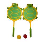 Juguete Set De Raquetas Y Pelotas Tortuga