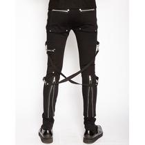 Pantalon Skinny Tripp Is6037m Bondage Punk Rocker Gothic