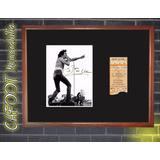 Acdc Bon Scott Foto Firmada Y Entrada Recital 1978