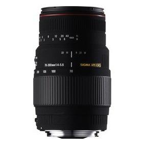 Sigma 70-300 Apo Macro Canon Nikon 4 Anos Garantia Oficial