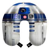 Travesseiro Almofada Pescoço Viagens Star Wars R2d2 + Brinde