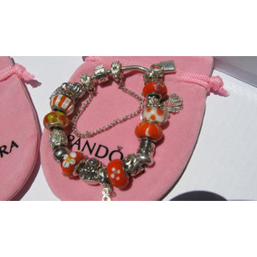 Pulseras, Modelo Pandora, Cristales Muran Múltiples Colores.