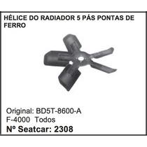 Helice Do Radiador 5 Pás Ferro Caminhão F-4000 Ford