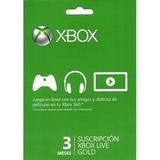 Membresia Xbox Live 3 Meses Gold, Envio Inmediato!