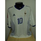 031c1c9293 Camisa França Home 02 03 Zidane 10 Patch Wc 2002 Importada - Camisas ...