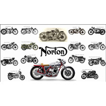 Poster En Tela Historia Norton Motorcycles 1912 50 X 90 Cm