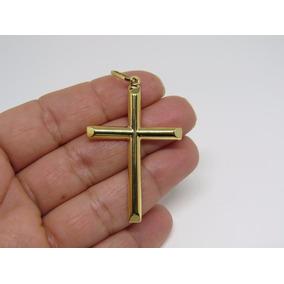 Pingente Masculino Cruz Crucifixo 4.5cm Ouro 18k 750
