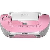 Som Portátil Philips Boombox Cd/mp3/usb Rosa-az1837p/78