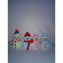 Muñeco De Nieve 4 Piezas Multicolor Navidad Arbol Santa