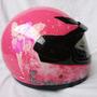 Casco Para Niña Diseño Haditas Pink